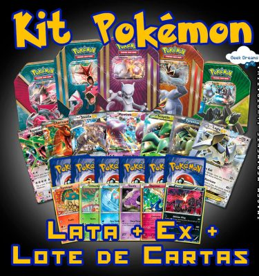 Kit Pokémon - Lata + Ex