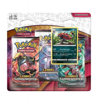 Triple Pack Pokémon Zoroark Lendas Luminescentes